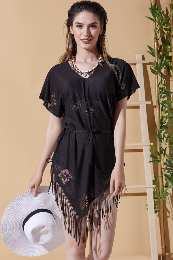 Bali Siyah Plaj Elbisesi