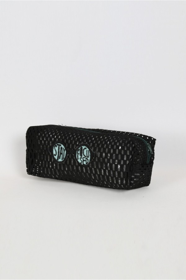 Black Net  Make-Up Bag