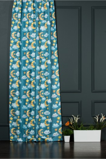 Sky  Printed Child Curtain