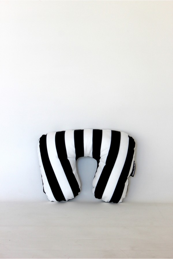Black White Travel Pillow