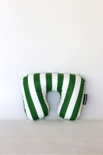 Green White Travel Pillow