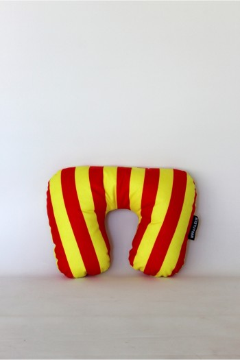 Yellow Red Travel Pillow