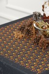 Pumpkin Patterned Christmas Tablecloth