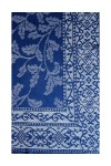 Blue Leaf Patterned Shawl