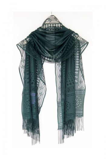 Green Drop Patterned Shawl