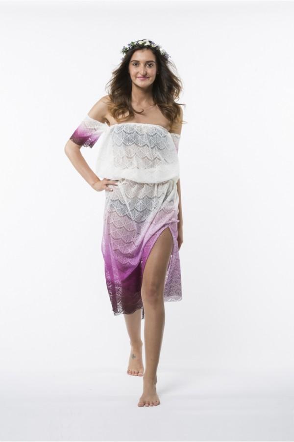 Paloma Eteği Pembe Elbise