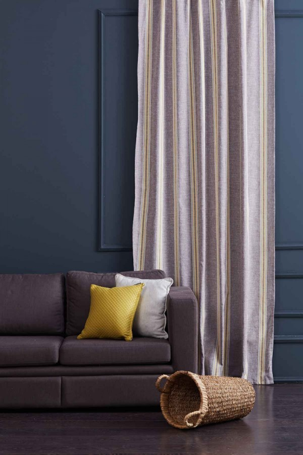 Striped Linen Drapery