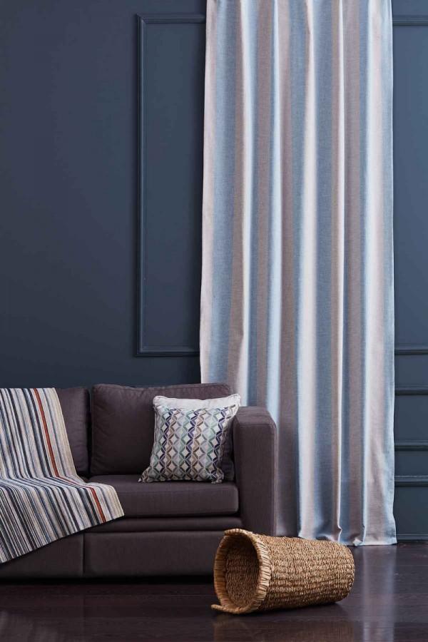 Striped linen Drapery