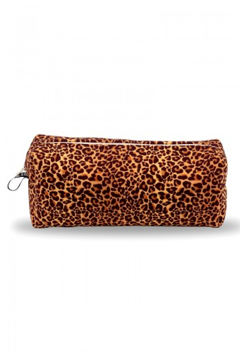 Leopar Patterned Make-Up Bag