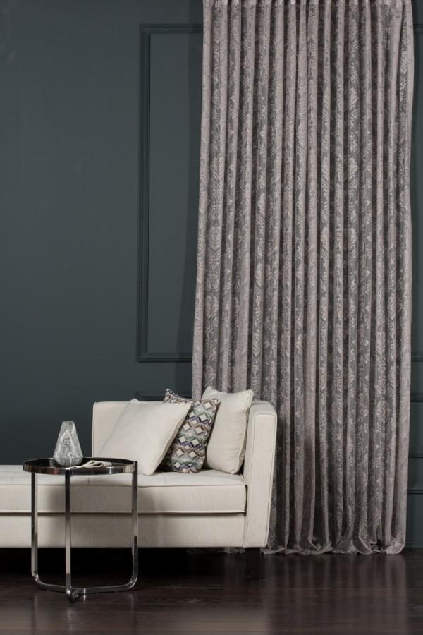 Gray Tulle Curtain