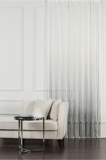 White to Gray String Curtain