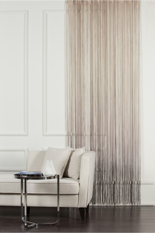 Beige to Brown String Curtain