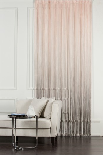 Powder to Brown String Curtain