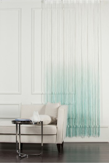 White to Turquoise String Curtain