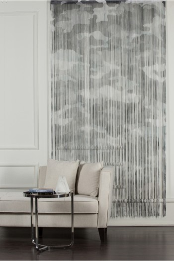 Gray Camouflage String Curtain