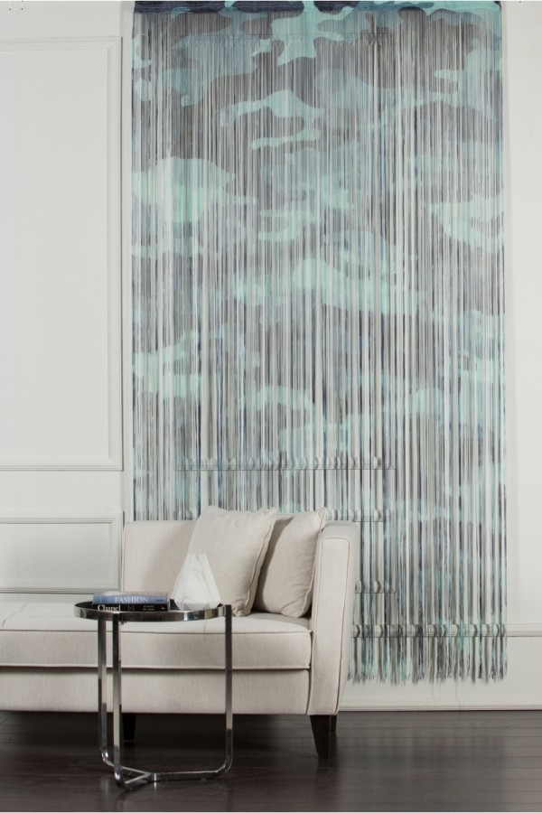 Blue Camouflage String Curtain