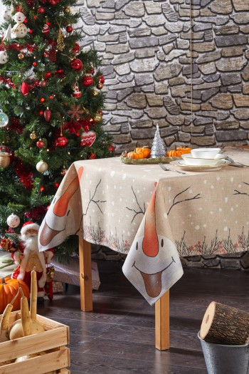 Snowman New Year Tablecloth