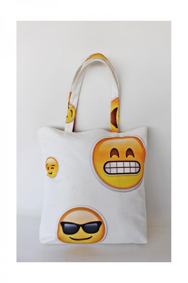 Emoji Plaj Çantası