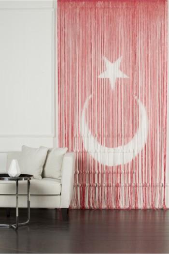 Türk Bayrağı  İp  Perde