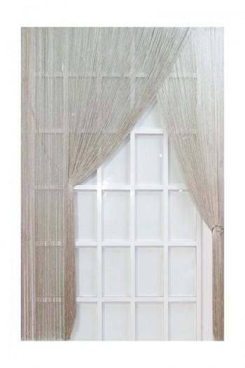 Cream Silvery String Curtain