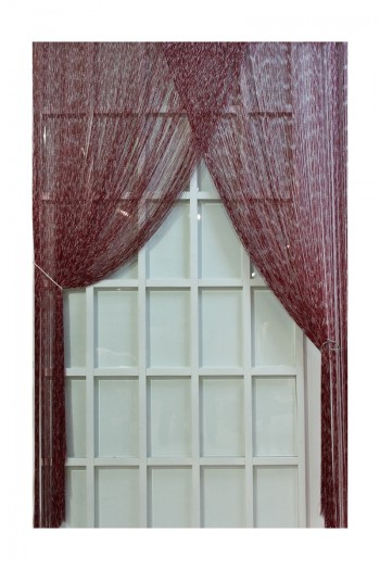 Claret Red String Curtain