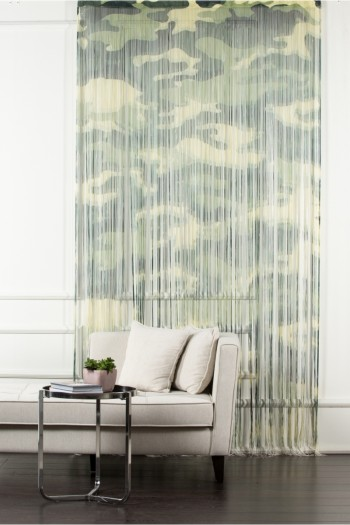 Green Camouflage String Curtain