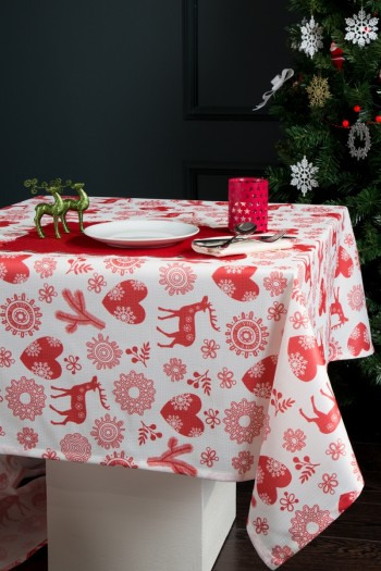 Christmas Figured Digital Printing Raschel Tablecloth