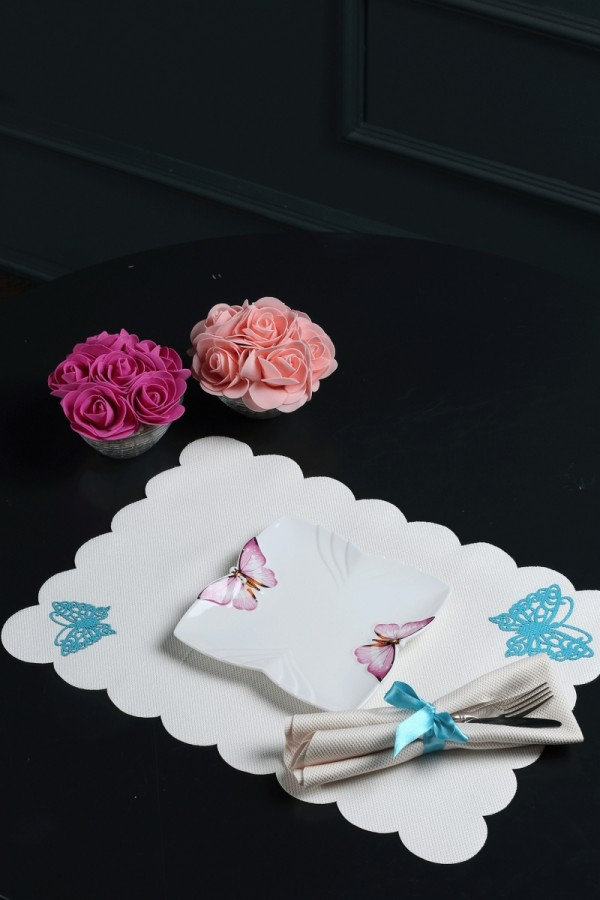 Butterfly Patterned American Service Set