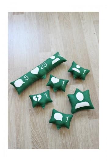 Yeşil Like Yastık Seti