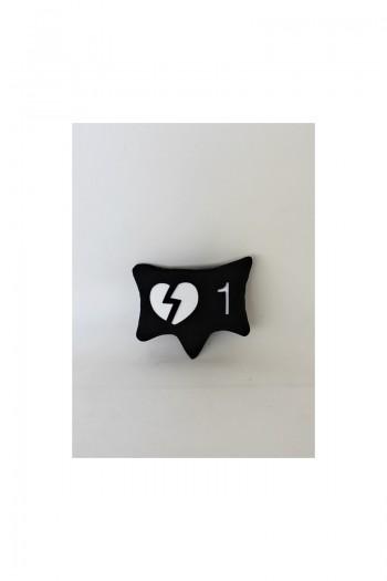 Siyah Kırık Kalp Simgesi
