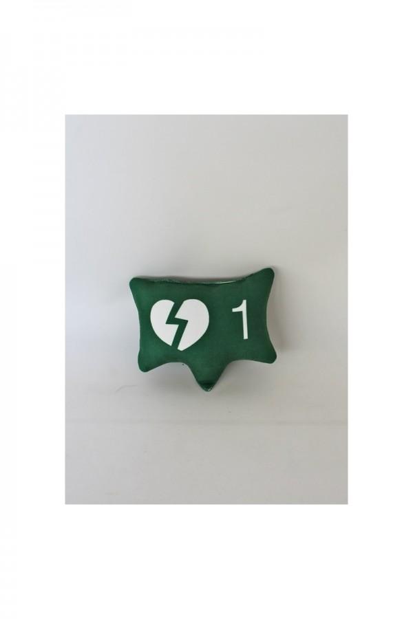 Green Broken Heart Icon