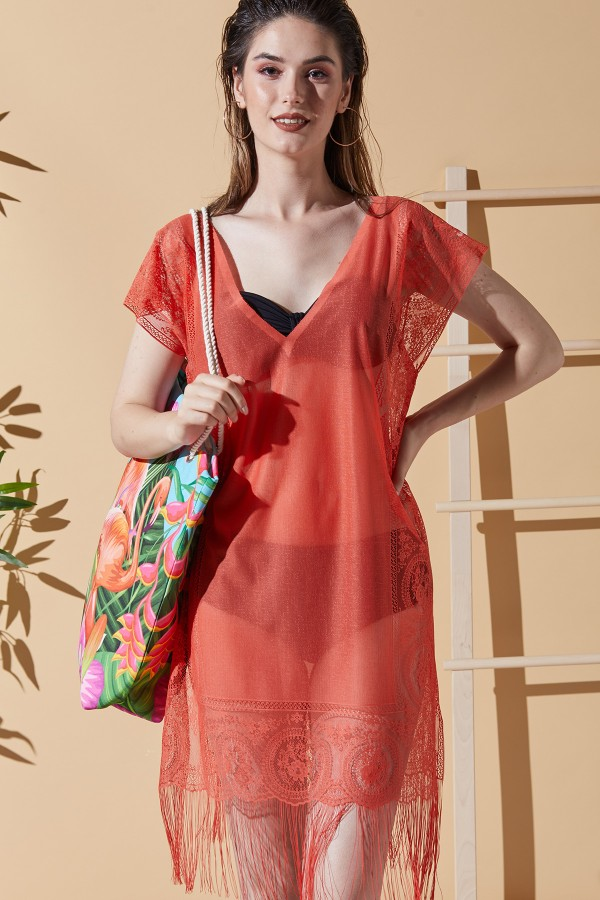 Diana Pomegranate Beach Dress