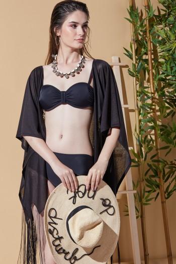 Angel Siyah Plaj Elbisesi