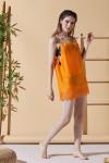 Holiday Orange Beach Dress