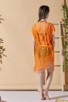 Aqua Orange Beach Dress