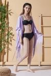 Düş Kapanı Lila Plaj Elbisesi