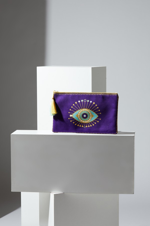 Eye Pattern Portfolio Bag
