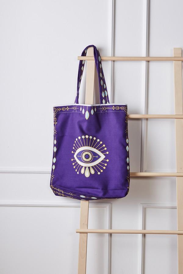 Eye Pattern Beach Bag