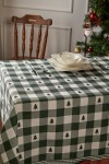 Christmas Green Checkered Pine Table Cloth