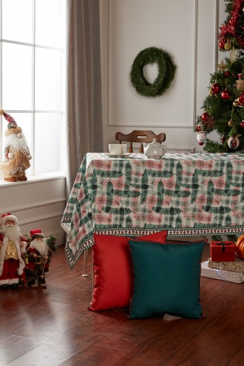 Christmas Feather Pattern Tablecloth