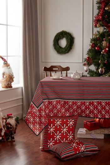 Christmas HoHo Striped Table Cloth