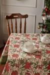 Christmas Flower Linen Tablecloth