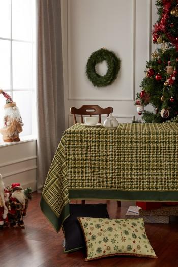 Christmas Plaid Green Tablecloth