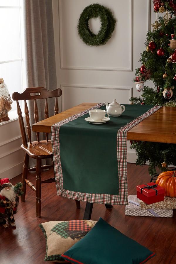 Christmas Green Plaid Runner