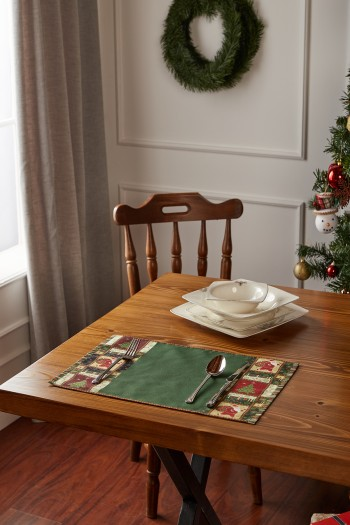 Christmas Pattern Placemat Set of 2