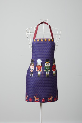 Lead Soldier Patterned Blue Kitchen Apron