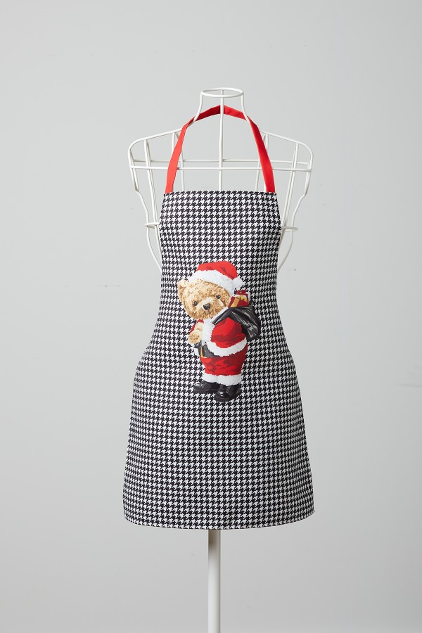 Bear Pattern Goose Foot Kitchen Apron