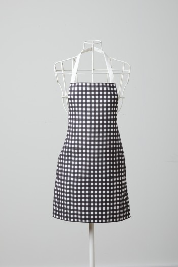 Black Checkered White Kitchen Apron