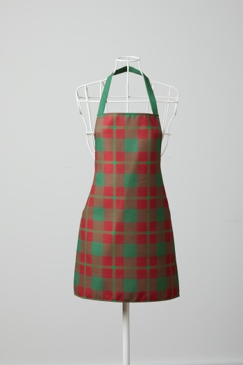 Red Checkered Green Kitchen Apron