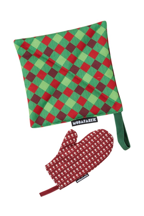 Patterned Handle And Glove Set